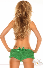 Plus Size Teasing You Green Ruffle Panty
