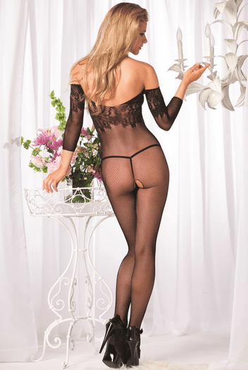 Plus Size The Naughty Ex Sexy Floral Bodystocking