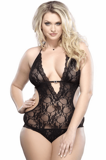 Plus Size This Love Is Beautiful Deep V Teddy