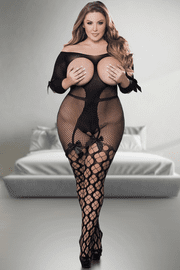 Plus Size Tie Me Down Cupless Bodystocking