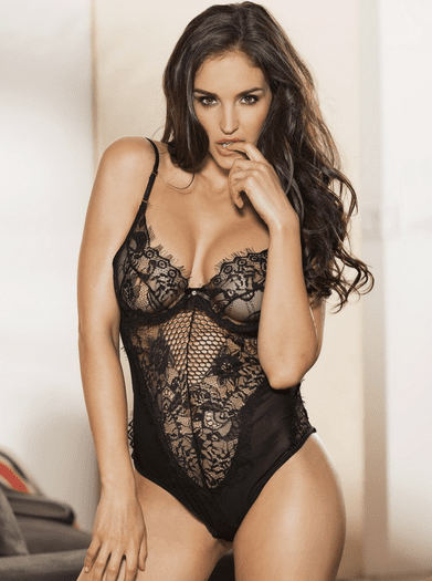 Plus Size Trust My Love Eyelash Lace Teddy