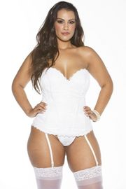 Plus Size White Ultimate Lace Corset