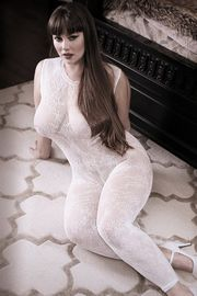 Plus Size Worth The Wait Floral Bodystocking