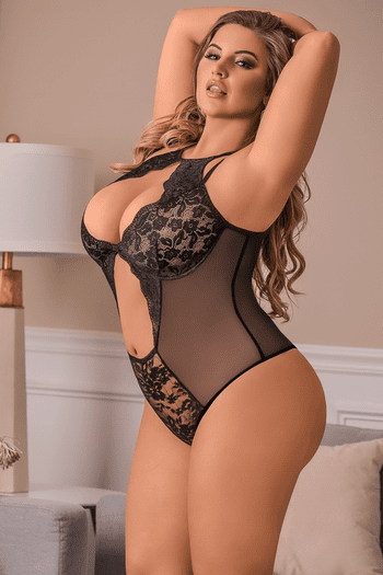 Plus Size You Got It All Lace Teddy