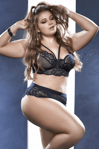 Plus Size You Know You Want Me Bra Set