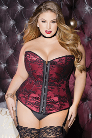 Plus Size Your Decadent Indulgence Gartered Corset