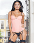 Positively Pretty Pink Lace Up Bustier
