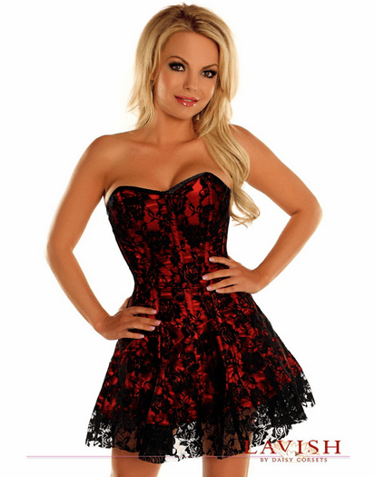 Pretty In Lace Sexy Corset Dress