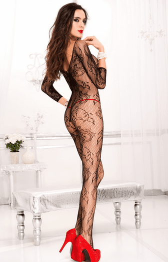 Pretty In Paisley Crotchless Bodystocking