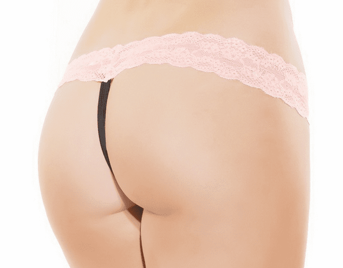 Pretty In Pink Lace Thong