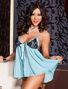 Pretty Pastel Babydoll & Thong Set