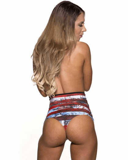 Pretty Patriot Sexy High Waist Thong