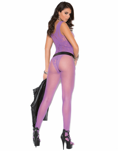 Purple Fantasies Sexy Open Crotch Bodystocking