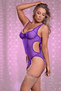 Purple Merry Widow & Crotchless G-String