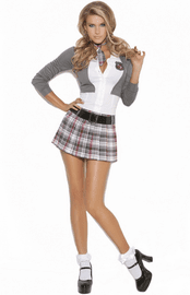 Queen Of Detention 3 Piece Costume