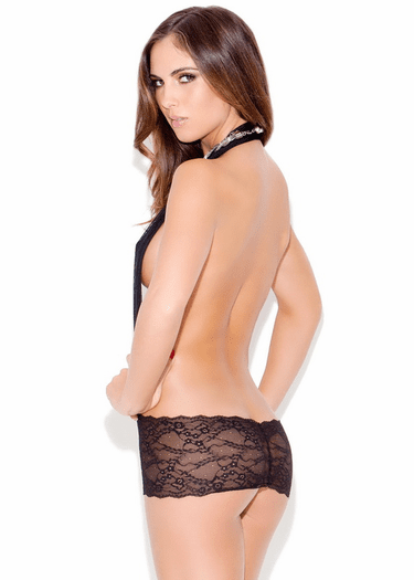 Queen Of The Night Open Lace Chemise