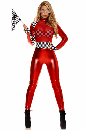 Women's First Place Racer Sexy Costume