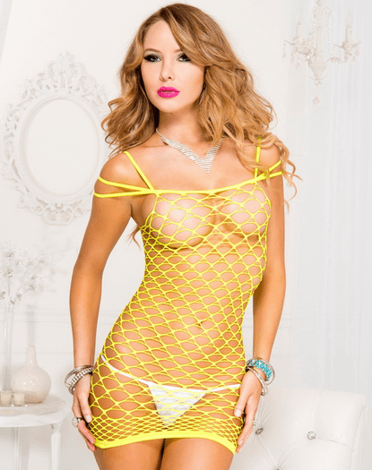 Ravage Me Sexy Fishnet Rave Chemise