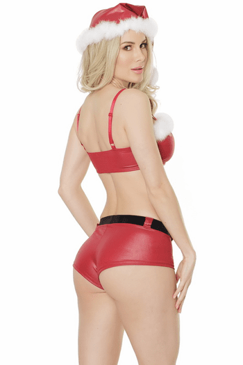 Red Bandeau & Booty Short Set
