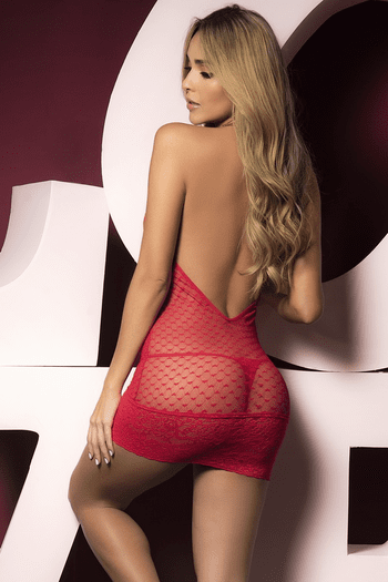 Red Bodycon Valentines Day Chemise