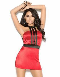 Red Caged Mini Dress