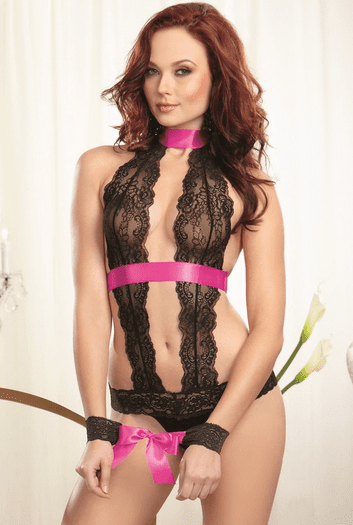 Red Diamond Forever Charmed Sexy Teddy