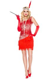 Red Fearless Flapper Costume