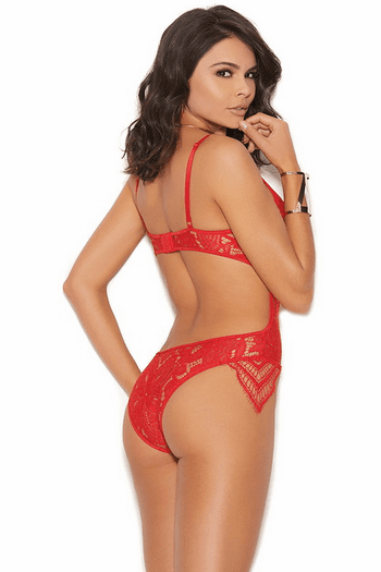 Red Feels Like Forever Lace Teddy