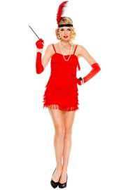 Red Flaming Flapper Costume