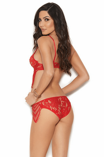 Red Lace Bra & Panty Set
