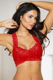 1aa88b541a153 Red Lace Bralette Top