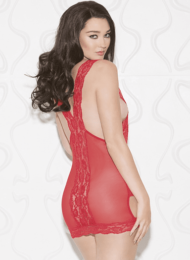 Red Lace Strappy Surprise Chemise
