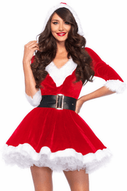 Red Mrs. Claus Christmas Costume