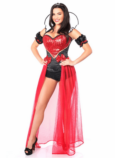 Red Queen Fairytale Corset Costume