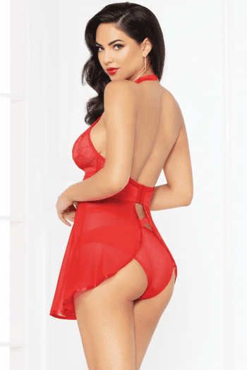 Red Seductress Babydoll Set