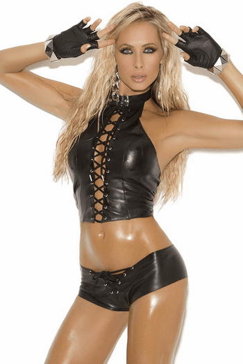Rip It Open Leather Booty Shorts