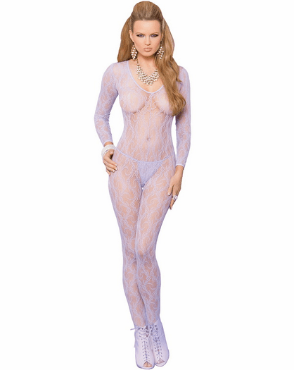 Romantic Night Lace Crotchless Bodystocking