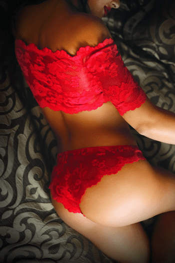 Rose and Thorn Lace Crop Top and Panty