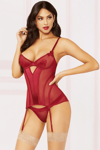 Rose Darling Bustier & Panty Set