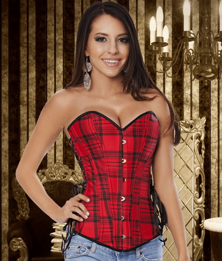 Roselyn's Red Plaid Corset