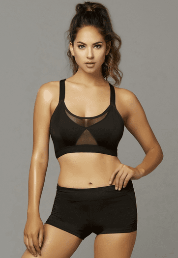 Rough Player Black Sports Bra- Spicy Lingerie