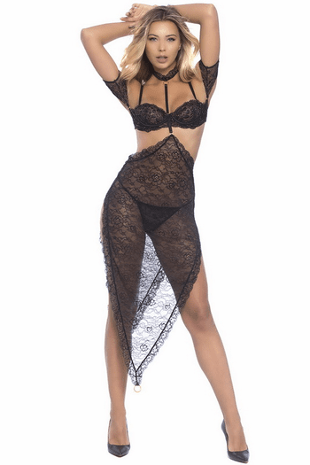 Rough Yet Romantic Lace Lingerie Skirt
