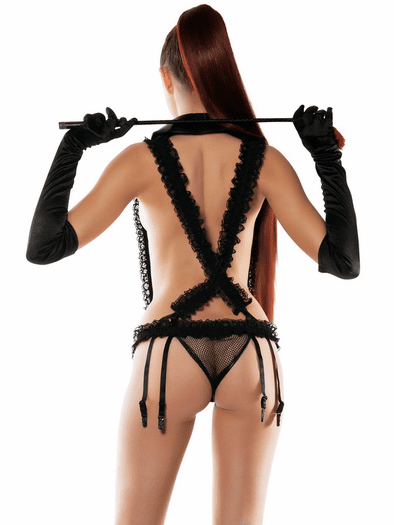 Ruffle My Feathers Garter Teddy & Fetish Lingerie Set