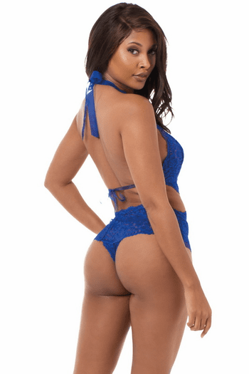 Sapphire Lace Teddy