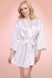 Satin Charmeuse Bride Robe