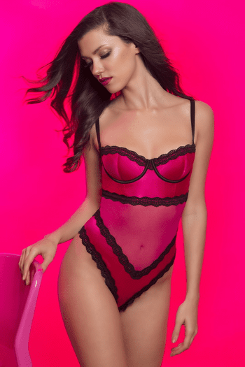 Satin Lace Teddy