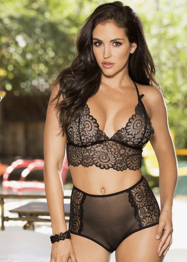 Say You Wont Go Bralette & High Waist Panty Set