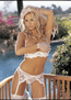Scalloped Embroidery Crotchless Panty
