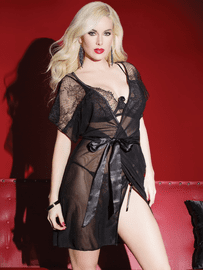 Scalloped Sensuality Robe