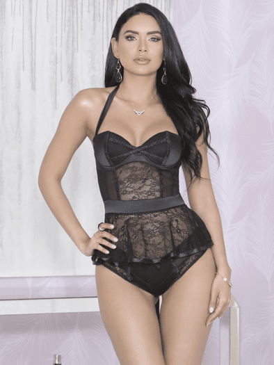 Sealed With A Kiss Lace Bustier & Panty Set